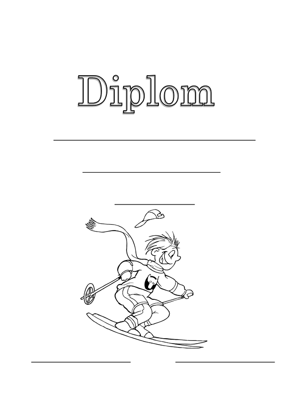diplom zdarma lyžař